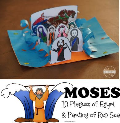 Moses: 10 Plagues of Egypt and Crossing the Red Sea Bible Craft