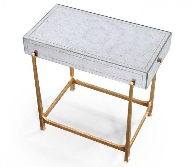 Églomisé U0026 Iron Box Top Side Table (Gold)