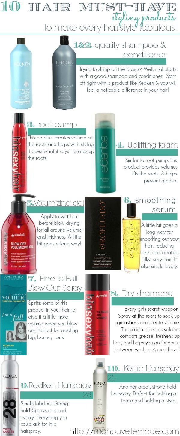 10 hair must have styling products by Ma Nouvelle Mode