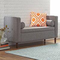 Mercury Row Rimo Upholstered Storage Bench & Reviews | Wayfair