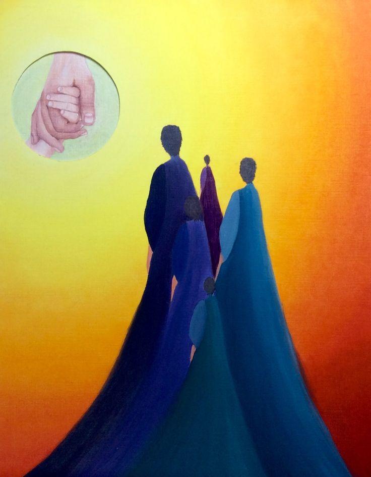 Titel Verlangen. Olieverf schilderij gemaakt door Els 4-2016