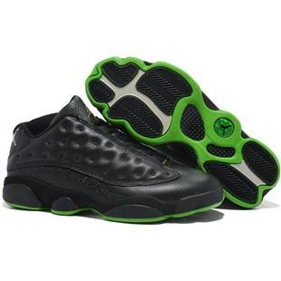 Top Nike Air Jordan 13 Mens Shoes in Black and Green, cheap Jordan If you  want to look Top Nike Air Jordan 13 Mens Shoes in Black and Green, ...