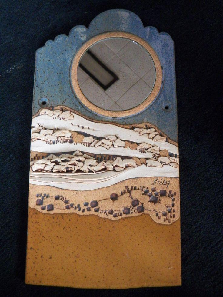 Schlag Pottery 3D Southwestern Mirror Wall Sculpture | eBay