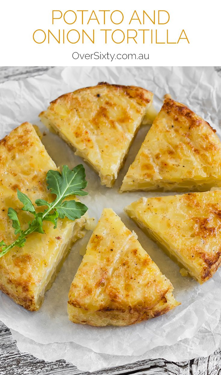 Potato and Onion Tortilla - This Spanish-inspired potato and onion tortilla is easy to make and even easier to eat. Serve with a simple salad for a quick and tasty meal.