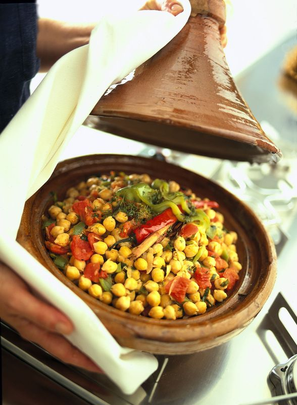 Tajine di ceci aromatici alla marocchina