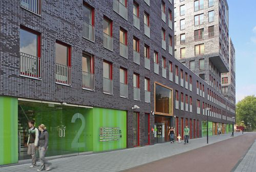 Amsterdam netherlands de albatros 130 apartments with 1250 m2 community facilities hvdn - Affordable social housing ...