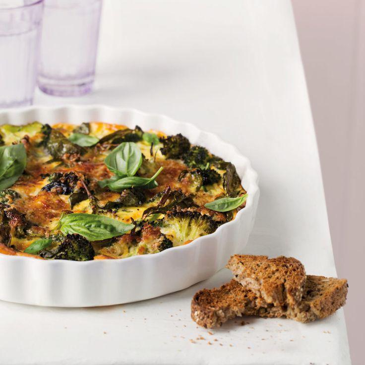 Broccoli and oat crustless quiche