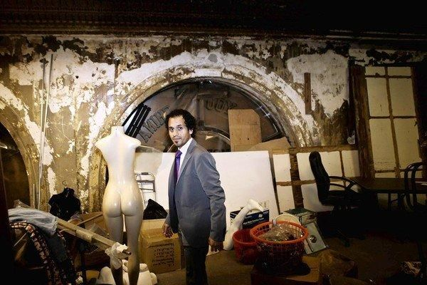 Abandoned Hotels in Los Angeles | Nick Hadim stands inside a storage area next to the Alexandria Hotel ...
