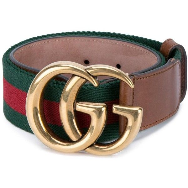 Gucci GG buckle belt (€280) ❤ liked on Polyvore featuring accessories, belts, brown, gucci belt, brown buckle belt, floral belt, brown leather belt and gucci