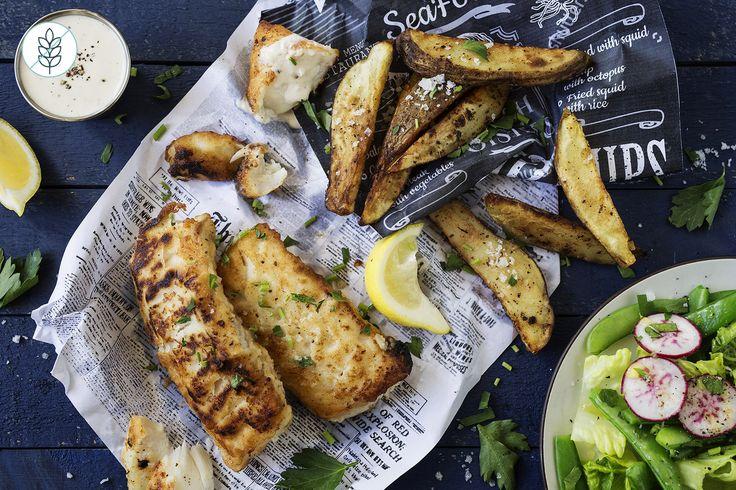 Fish & Chips Aïoli Maison et Salade d'Été