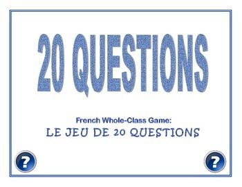 Practice French question format (est-ce que or inversion) and a plethora of vocabulary with this game.