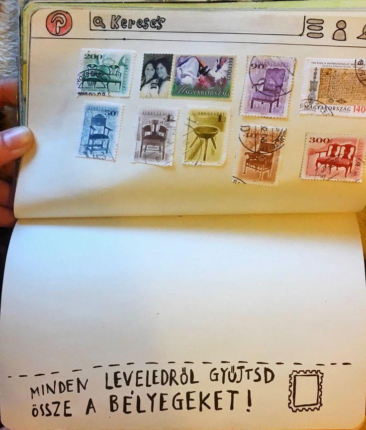 #NyírdKiEztANaplót #WreckThisJournal #bélyeg #stamp #pinterest