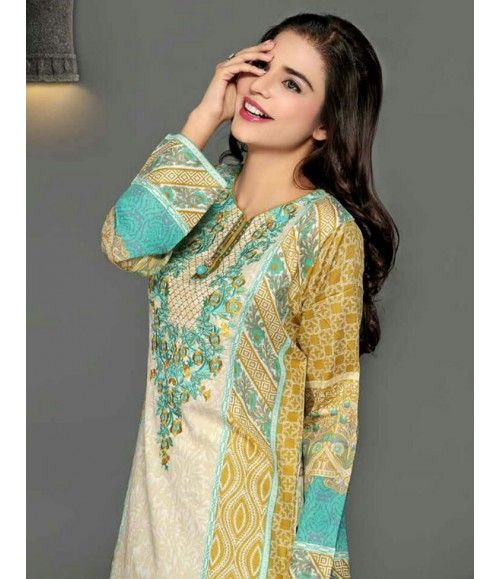 Rangrasiya Embroidered Lawn Collection 2016 D-11004B