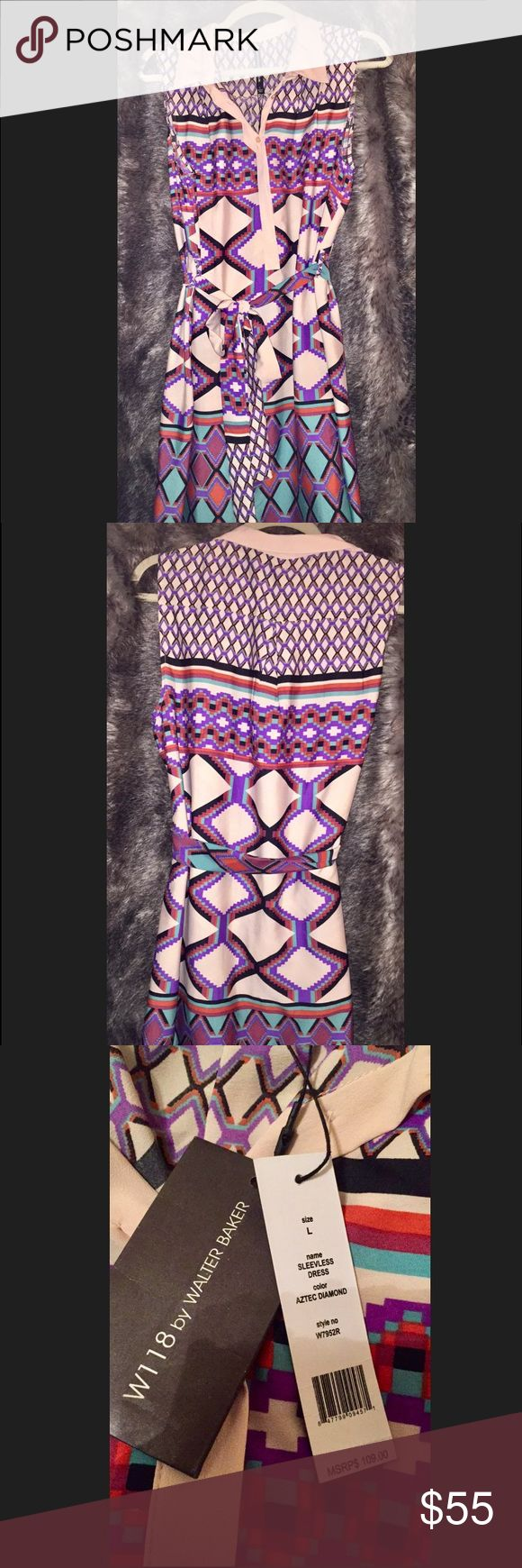 W118 by Walter Baker• Aztec Diamond•Dress• W118 by Walter Baker• Aztec Diamond•Dress• Sleeveless• New with Tags•Size: Large• GORGEOUS!!!! Make an offer!!• W118 by Walter Baker Dresses
