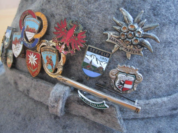 Alpine hat pins