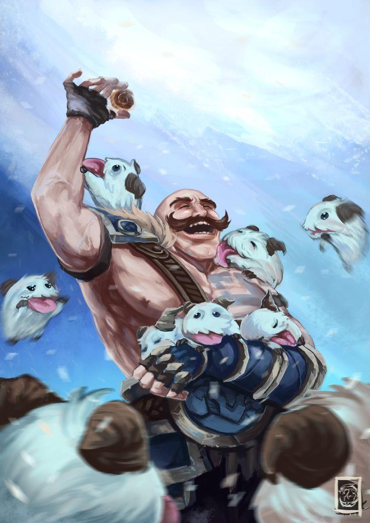 League of Legends: Braum by Ariss18.deviantart.com on @deviantART