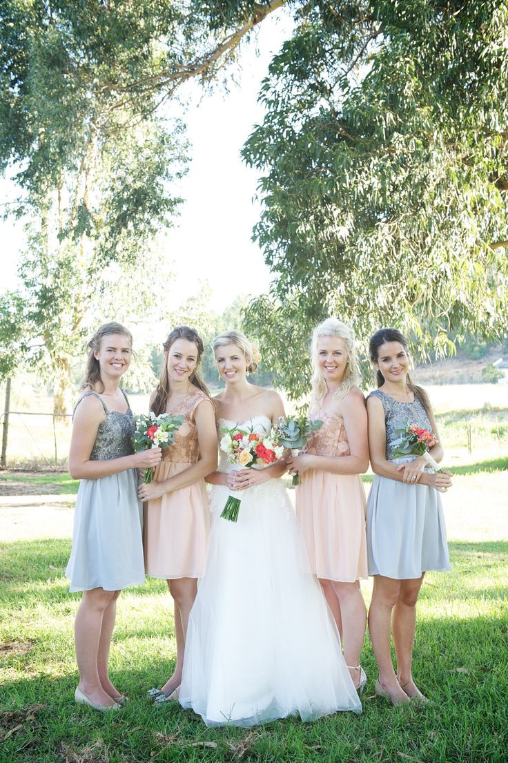 Bridesmaid dresses made by Robyn-Anne Designs.