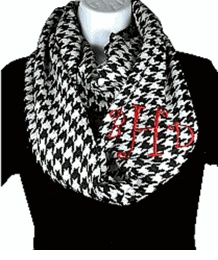 Monogrammed  scarf.....trust me not just for girls