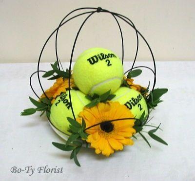 Image result for designer fresh flowers dipicting tennis