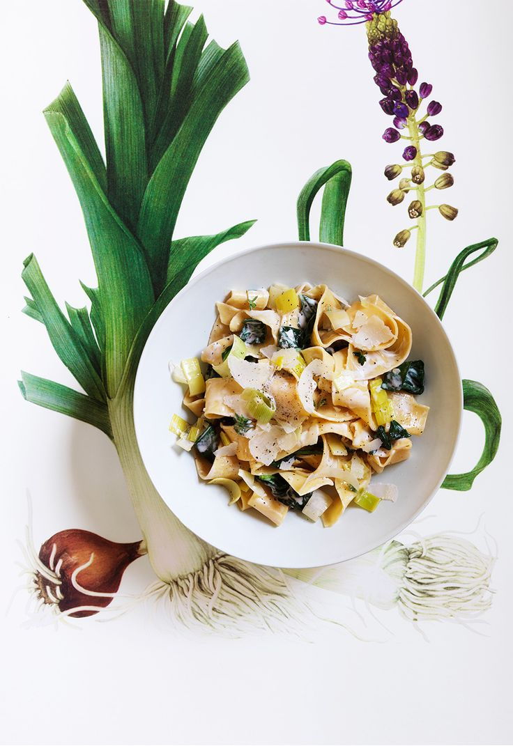 Pappardelle with Leeks and Spinach.Cooking Recipe, Spinach Recipes ...