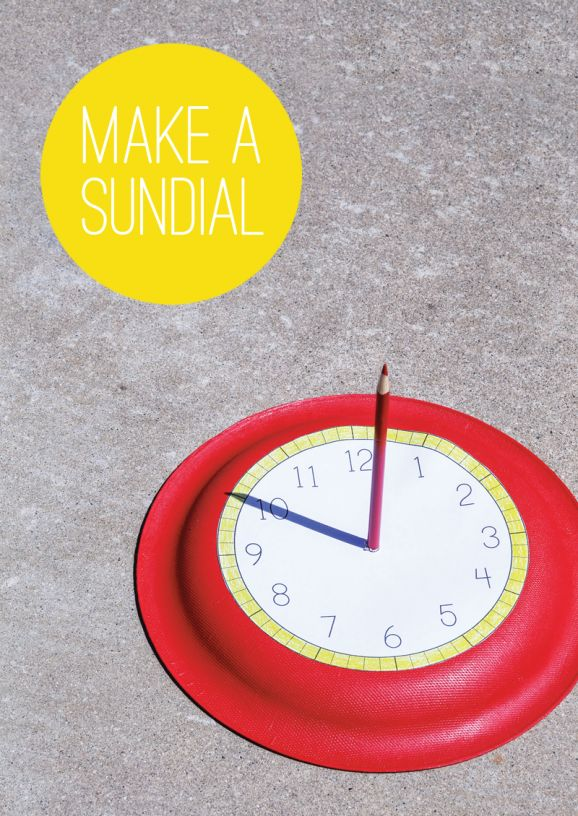 Free Printable to make this Easy Sundial and 3 other summer activites