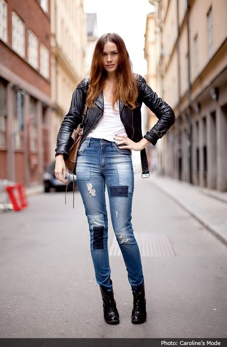 25  best ideas about Patched Jeans on Pinterest | Patching jeans ...