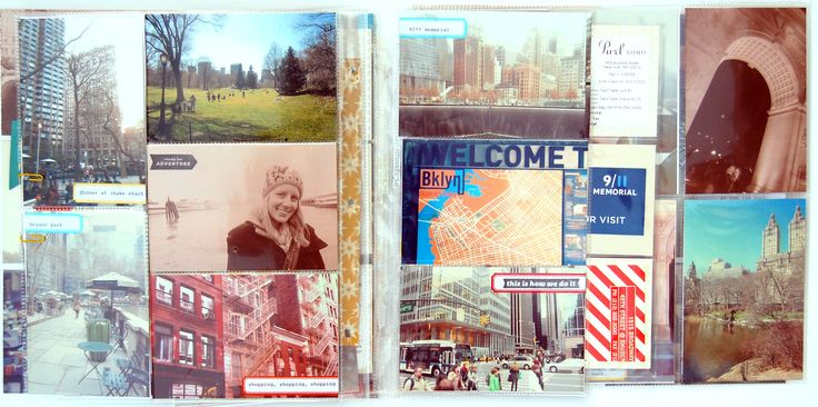 love the different sizes of photo page pockets + labelsProject Life, Projects Life