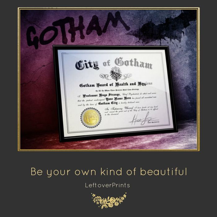 Gotham is back, get Arkham certificate with your name! .  .  .  #picoftheday #love #musthave #photooftheday #instacool #instagood #prints #instafollow #loveit #handmade #streetphotography #streetart #urban #gallery #motivation #inspiration #architecture #building #archilovers #cityscape #nyc #newyork #brooklyn #newyorkcity #manhattan #gotham #nycprimeshot #newyorker #gothamcity