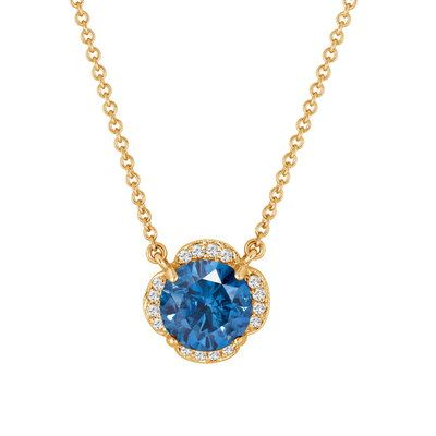 46 best solitaire diamond pendant necklace images on pinterest 189 carat blue white diamonds solitaire clover flower pendant necklace 14k yellow gold certified handmade audiocablefo