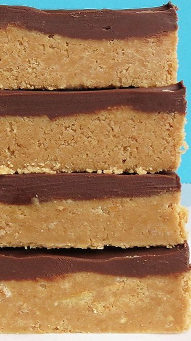 No-Bake Reeses Peanut Butter Bars Recipe ~ Says: They taste EXACTLY like a Reese's, but something about them being homemade just makes them better.