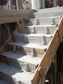 El maestro de obras xavier valderas hacer escalones de for Construccion de escaleras de cemento
