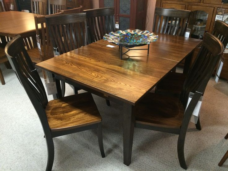 gorgeous elm amish made dining room set in miller s shop the look amish saratoga dining room set