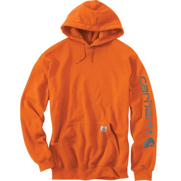 Carhartt Men's Midweight Sleeve Logo Hoodie (Regular and ...