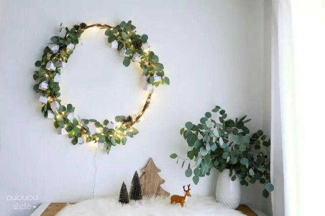Aujourd'hui, place a la couronne Hand Made ! Pour ce faire j'ai choisi l'eucalyptus qui à pour symbolique la purification et les branches de sapin qui conjurent les mauvais sorts.