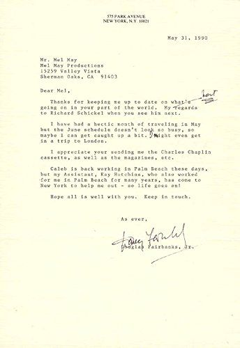92 best collectibles of 90s images on pinterest letter douglas fairbanks jr typed letter signed 05311990 thecheapjerseys Images