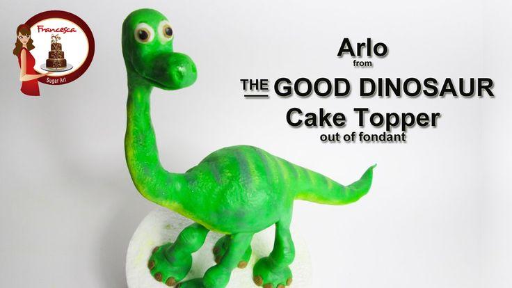 How To Make A Fondant Dinosaur Cake Topper