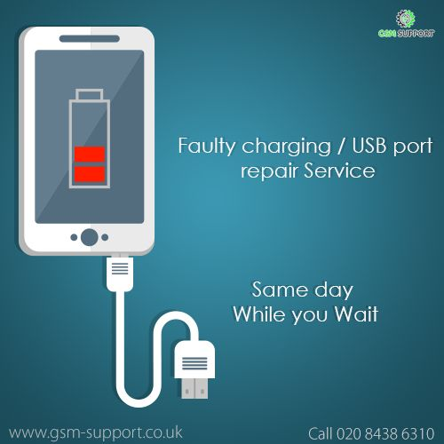 Faulty charging / USB port  repair Service Same day  While you Wait