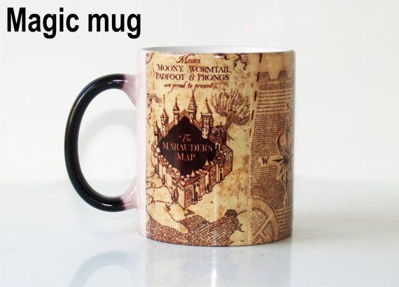 Harry Potter mug-maraudeurs carte-Harry Potter-Harry Potter mug magique-Harry Potter café tasse-maraudeurs carte couleur Potter Harry-tasse mug  Taille - 11oz. Lors de la coupe fait froide, vous pouvez voir un peu la photo. Lorsque leau chaude est versée, ce revêtement sera transparent et les images personnalisées sous apparaîtra comme par magie.  Il est lavable au lave-vaisselle, mais pour une performance maximale du produit, nous suggérons de se laver les mains pour sublimation toutes les…