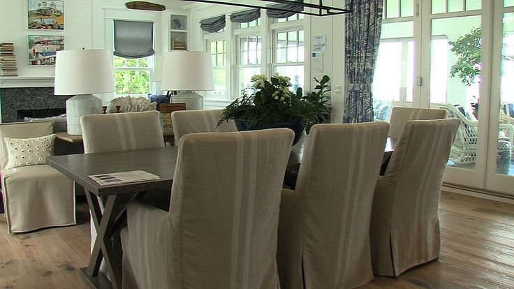 The dining room in Coastal Living Magazine's 2014 Showhouse.