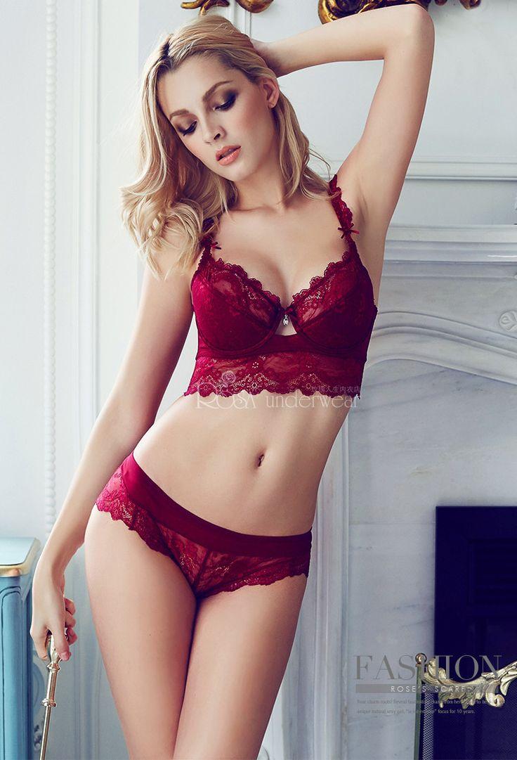 Роскошный французский бренд мода ансамбль сексуальная бомба бюстгальтера кружева закрытие летний стиль вышивка нижнее белье женское белье принцесса красный купить на AliExpress