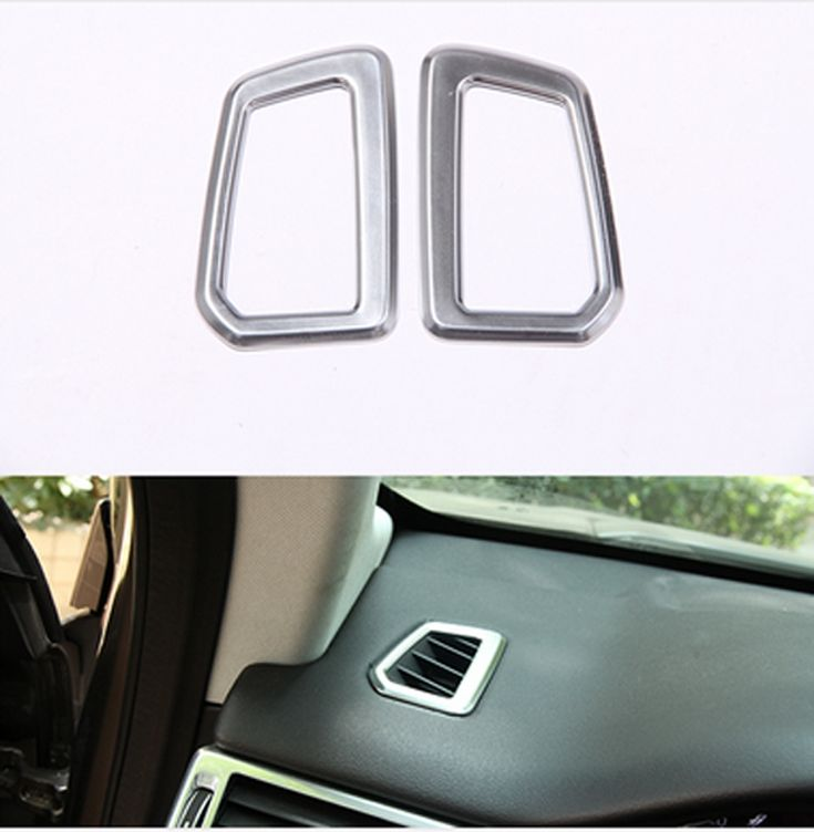 Chrome Car Dashboard Air Conditioning AC Vent Outlet Cover Trim For Land Discovery Sport 2015 2016 2017 Accessories Car Styling