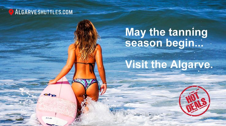 Tanning season is here and the Algarve region in Portugal is the place to be. Come enjoy the sun and our convenient transfer services from Faro airport. Visit http://algarveshuttles.com to make your reservations. See you in Portugal! #beach #tanning #Algarve #Portugal