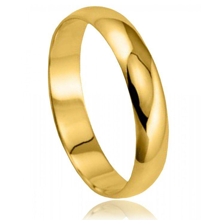 Alliance Or 9 carats demi-jonc moyenne - Bijoux GL