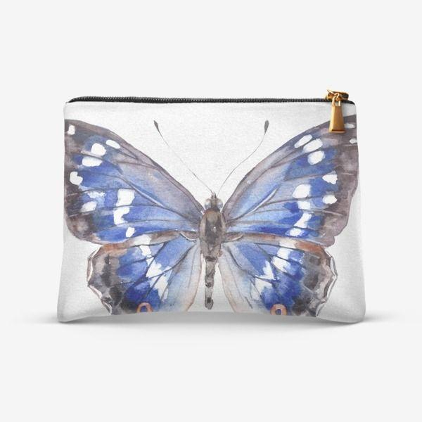 Косметичка Голубая бабочка, Автор: Лена Мороз, Цена: 1105 р.
