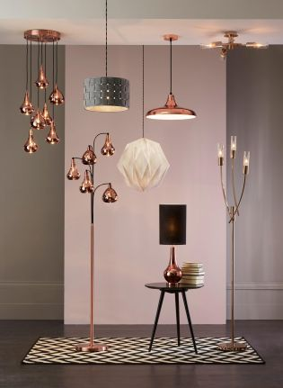With copper being the trend of the year, make a statement in your home with some gorgeous copper colour glass shades from Next.