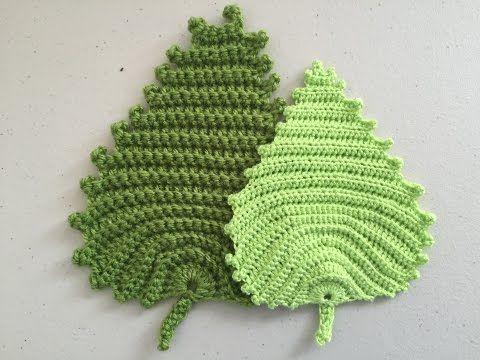 Crochet Pattern - Irish crochet leaf pattern - YouTube