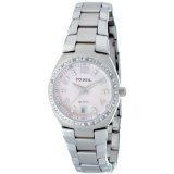 Fossil Women's AM4175 Glitz Quartz Pink Mother-Of-Pearl Dial Watch (Watch)By Fossil