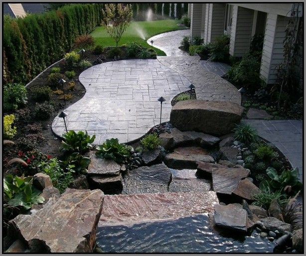 Stamped Concrete Back Yard Patio Ideas