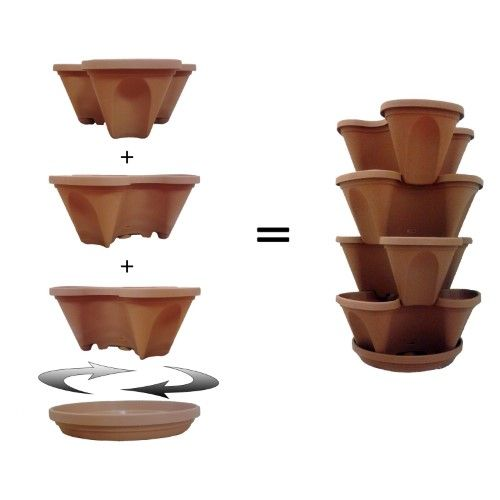 Nancy Jane Single 12 In Stacking Planter With Grid 400 x 300