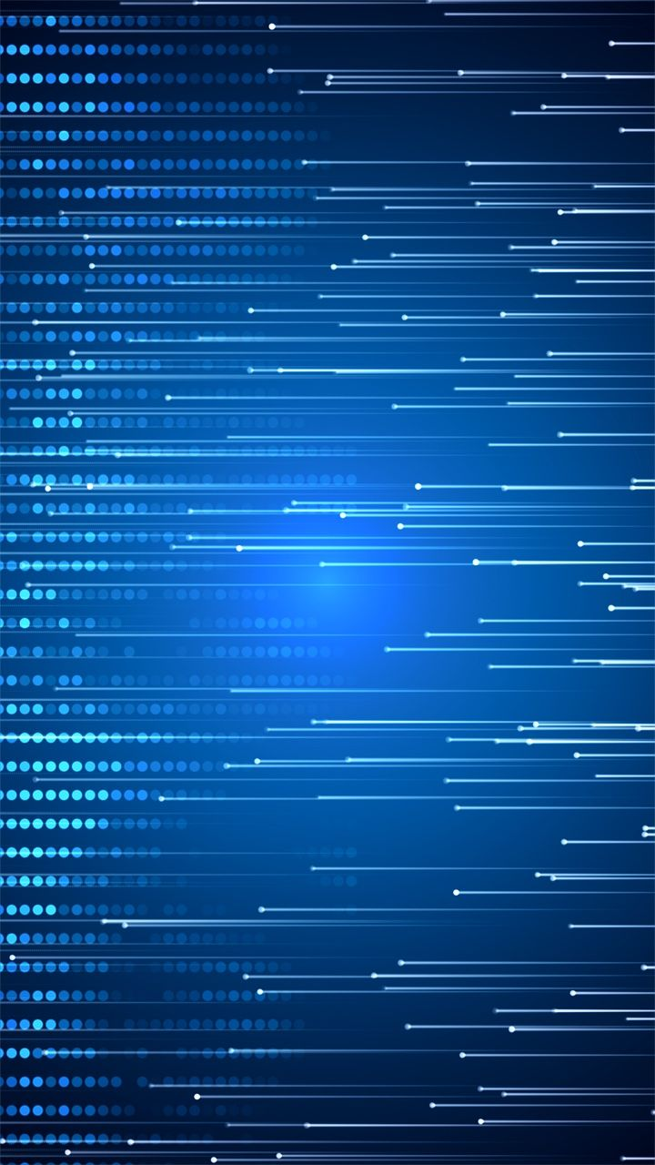 Lines Light On Blue Abstract Art Design Background